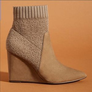 NWOB Anthropologie Cecelia Renata Wedge Boots 7.5